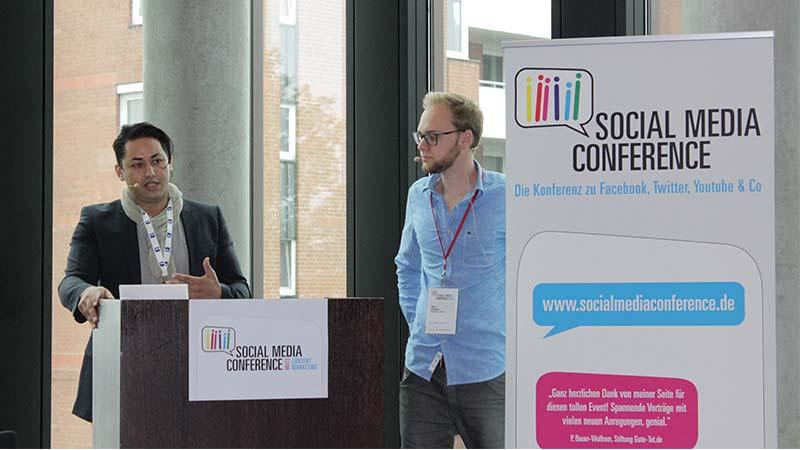 Karim Maataoui, Maserati Germany und Nico Pliquett, socialBench GmbH auf der Social Media Conference 2014